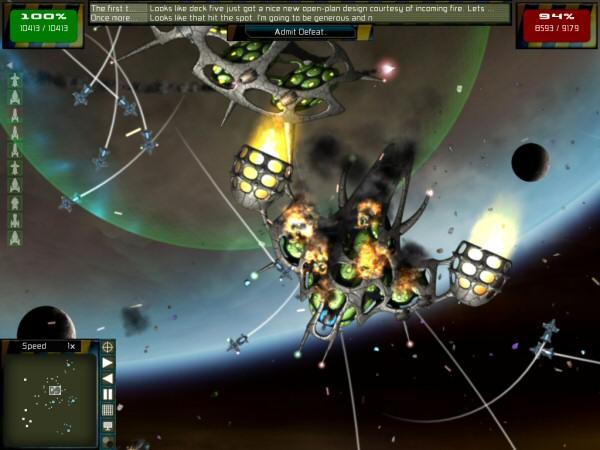 gratuitous space battles fleet overlay UI