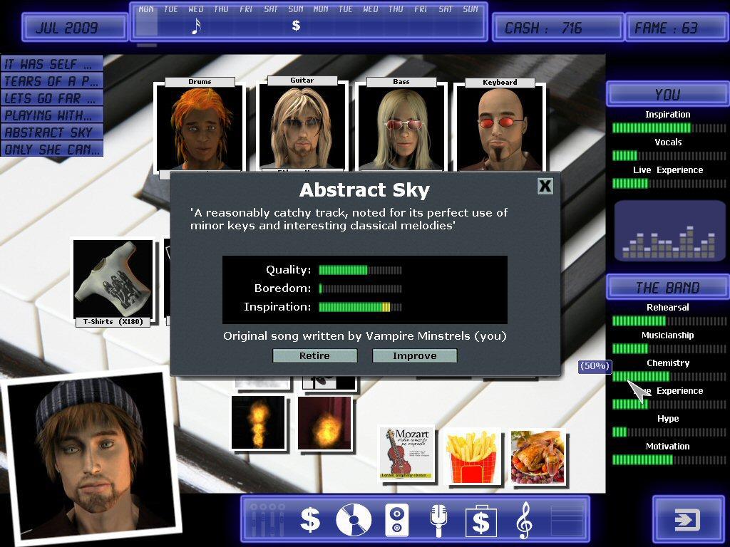 Rock legend game for Business simulator
